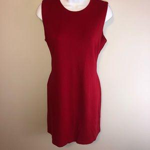 J. McLaughlin Sleeveless Sheath Dress in Red